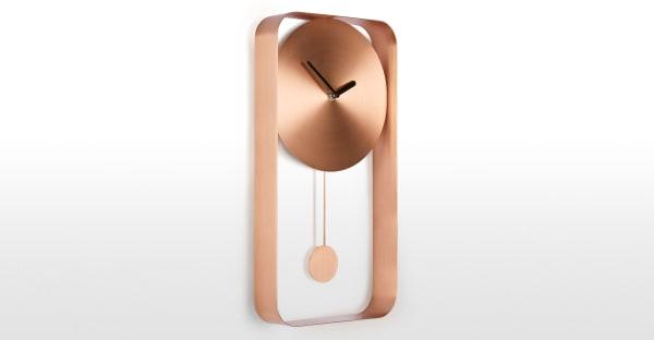 Bard Pendulum Wall Clock, Brushed Copper