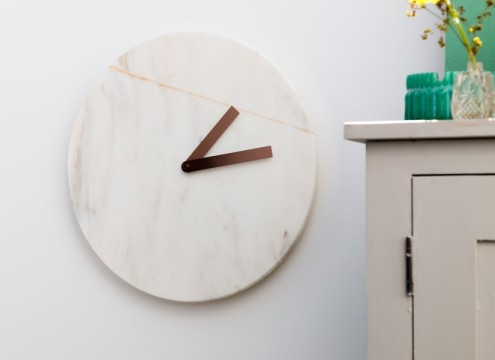 Cullen - marble and copper clock