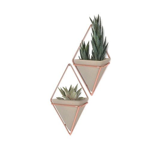 Umbra Trigg Hanging Planter Vase & Geometric Wall Decor