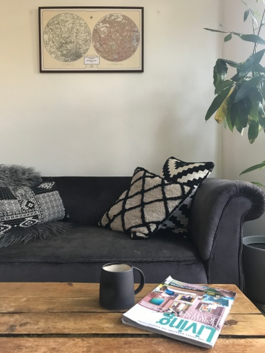 Busola's treasured sofa