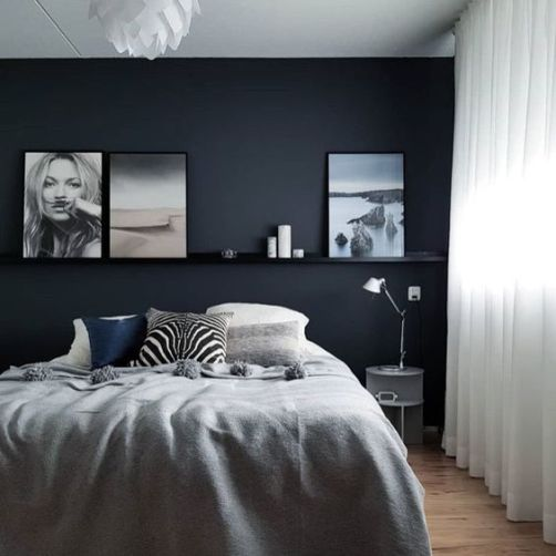 Black bedroom - pinterest