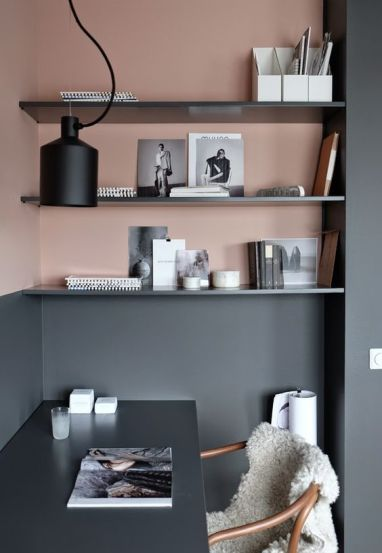 Blush and grey interiors - pinterest