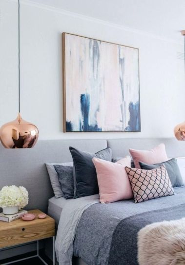 Blush pink and grey - Pinterest