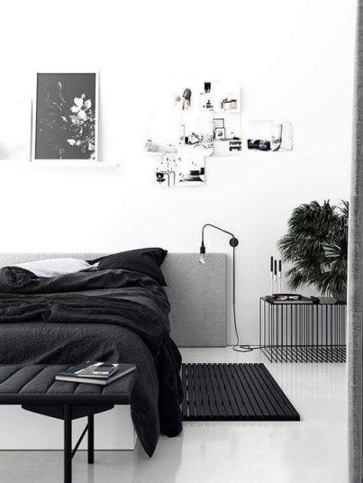 Monochrome bedroom - pinterest