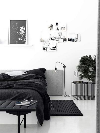 Monochrome bedroom - pinterest