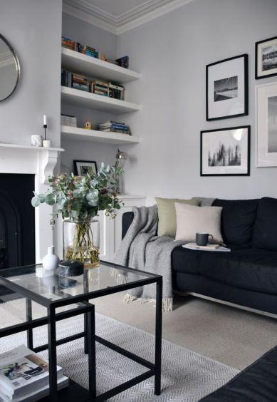 Monochrome living room - pinterest