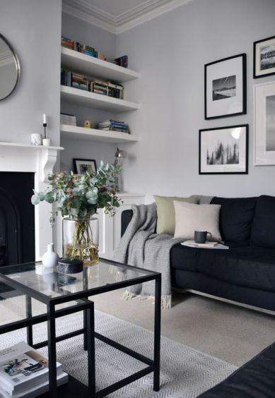 Monochrome living room - pinterest