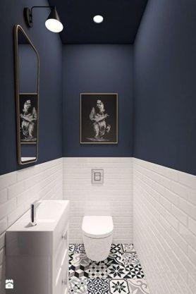 Two-tone bathroom - pinterest