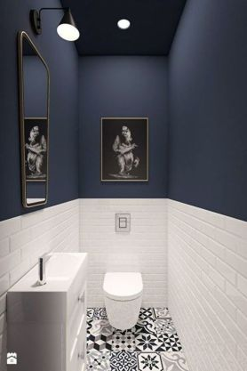 Two-tone bathroom - pinterest